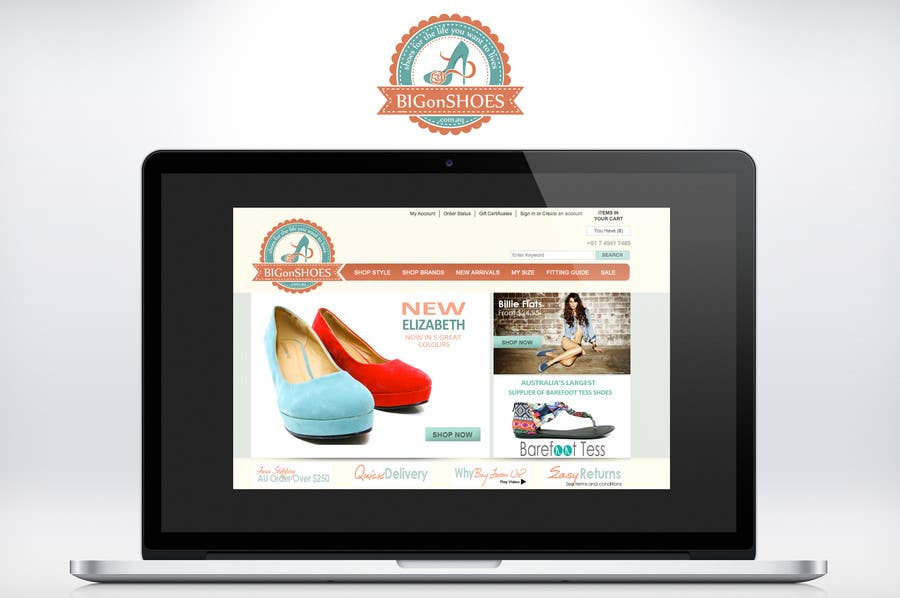 Inscrição nº 276 do Concurso para Logo Design for Big On Shoes