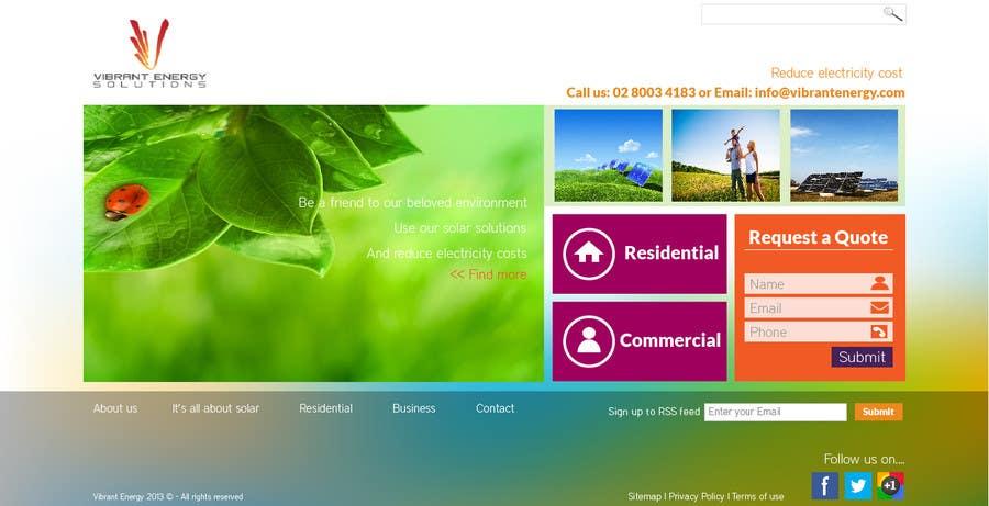 Конкурсная заявка №118 для Website Design for Vibrant Energy Solutions