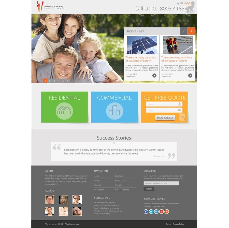 Конкурсная заявка №79 для Website Design for Vibrant Energy Solutions