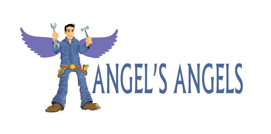 """Inscrição nº                                         14                                      do Concurso para                                         Design a Logo for my handyman business called """"Angel's Angels"""""""