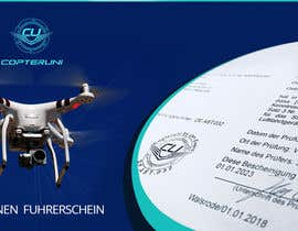 #80 para Design a Banner for a magazine's competition which is about the drone licence de ogunwaleformat
