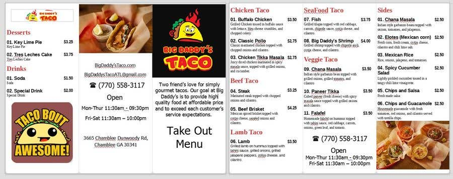 entry 3 by rhodelta for need a takeout menu design for restaurant