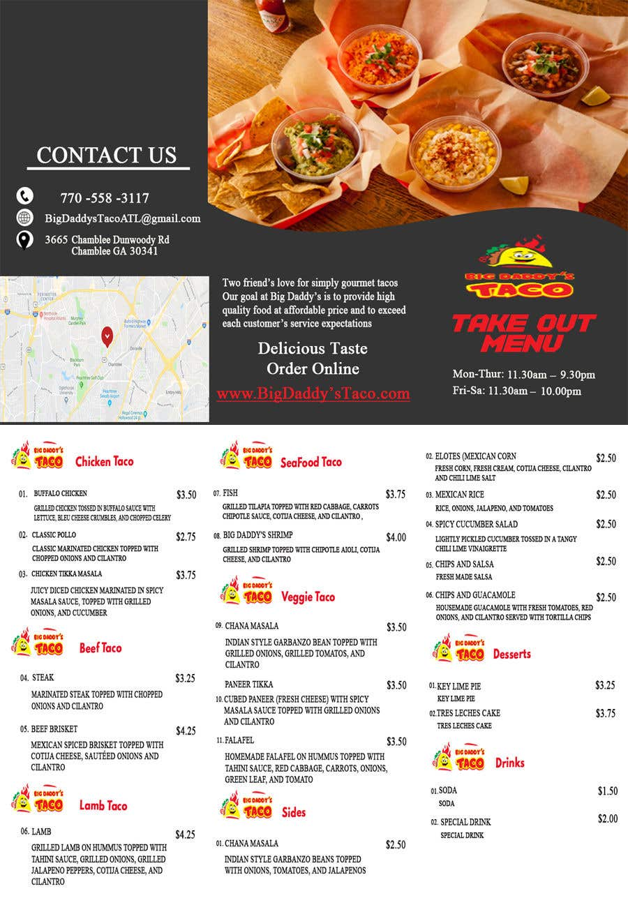 entry 10 by astrodude for need a takeout menu design for restaurant