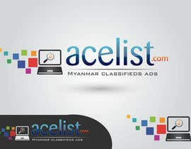 #74 untuk company logo icon with acelist.com and Myanmar classifieds ads text oleh nareshitech