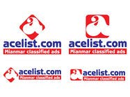 Graphic Design Konkurrenceindlæg #45 for company logo icon with acelist.com and Myanmar classifieds ads text