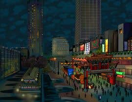 #7 cho Change a London photo to comics style illustration (and add a Hong Kong street market) bởi juliasha777