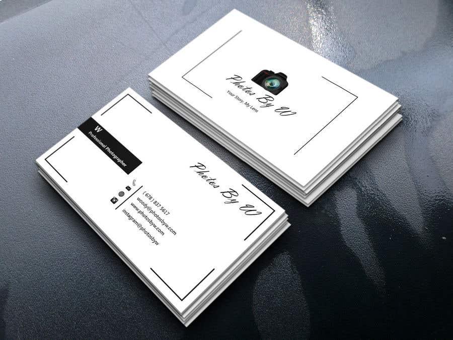 Entry #9 by sohagnokrek99 for Photographer Business Card Design ...