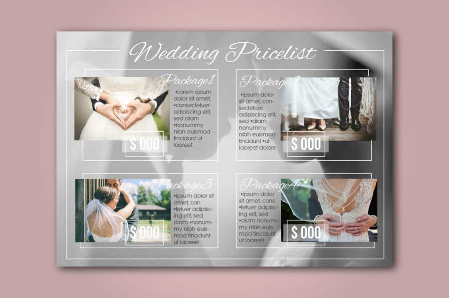 Entry 12 By Lagogga For Design A Wedding Photography Pricing List