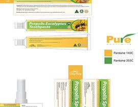 #28 para G'day honey propolis spray and Eucalyptus tooth paste package and label design por jramos