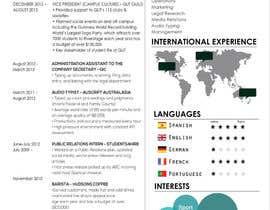 #13 cho I need a infographic cv/resume. bởi hkesolutions