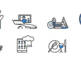 #12 per Design 8 custom icons for a startup website (Flat / Cartoon type) da EvgeniyDenisov