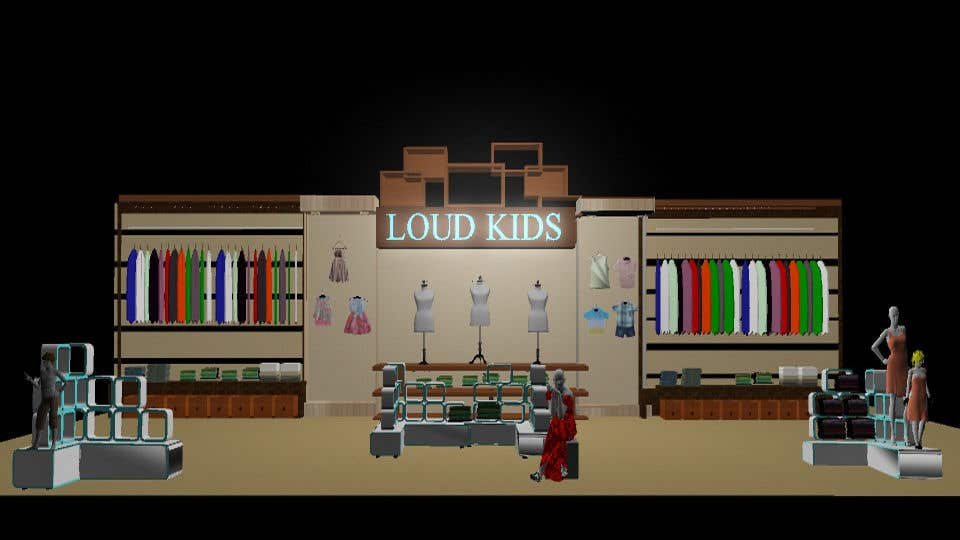 Contest Entry #6 For Do 3D Modelling Of Kids Corner For Department Store.