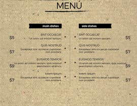 #3 para Modern design for a minimal menu/carte (Restaurant) por pabloeliu