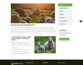 #18 pentru Build the website for the first food animal welfare compensation platform: foodoffset.org, simple but slick (without payment page) de către u2smile85