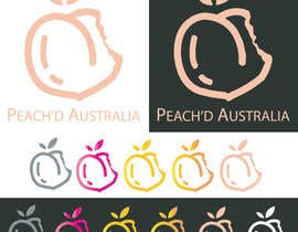"vucha tarafından I need a simple peach (fruit) outline, (maybe bitten) but it needs to be eye catching its for a ladies pants range so i do need it to be cute and perky.  Brand is ""Peach'd Australia""  Colours: Rose Gold, Grey, Nude, White, Gold & Silver için no 13"