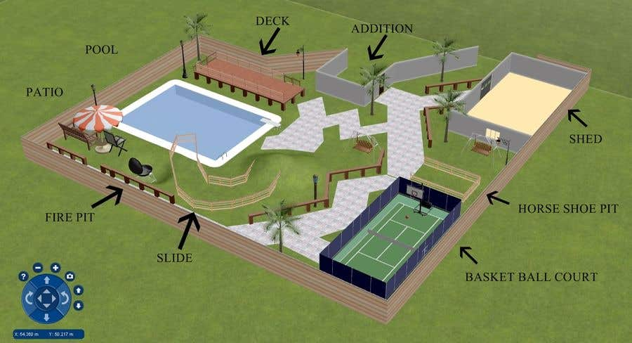 Entry 4 By Xeric777 For Backyard Design Layout Contest Freelancer