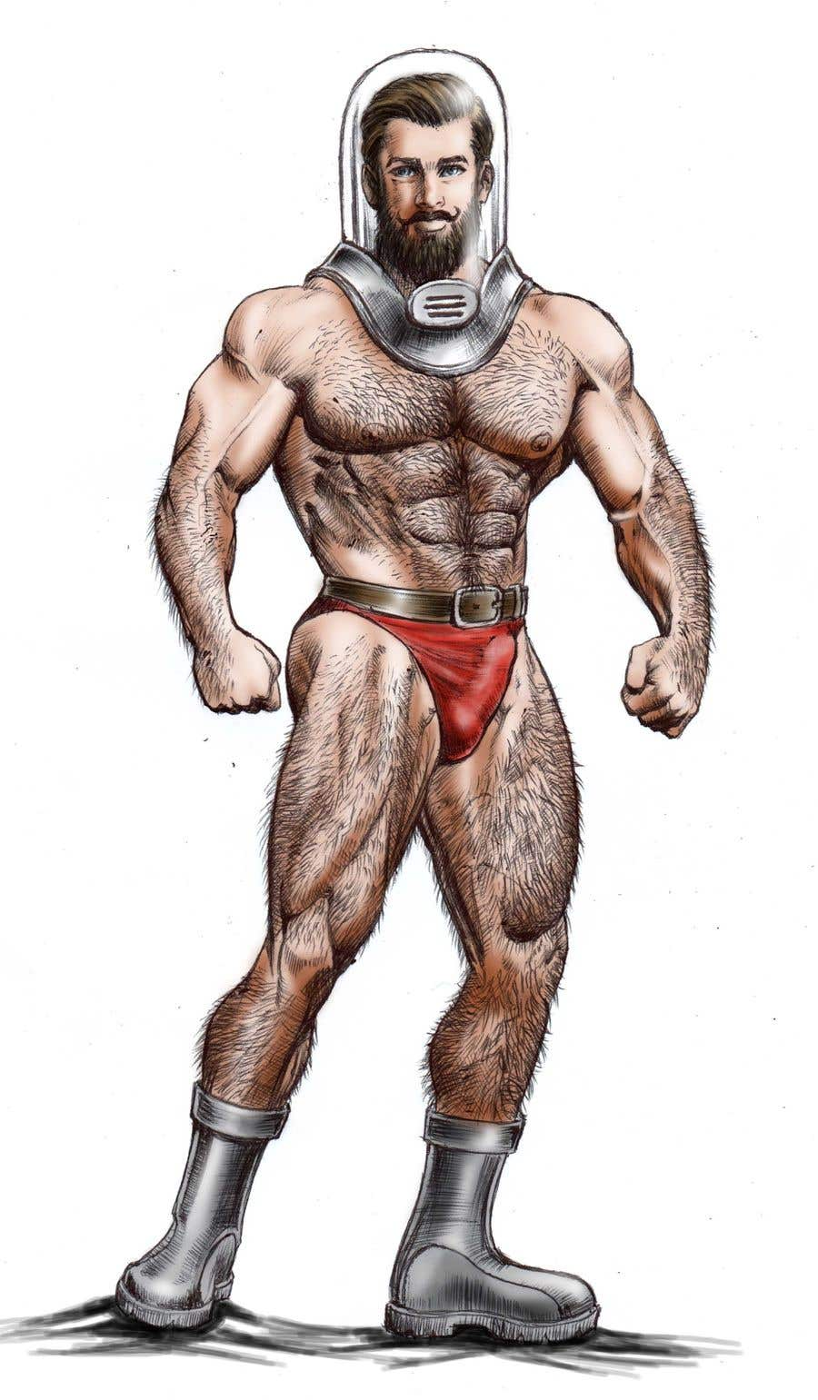Contest Entry #31 for Space Bear (big muscle hairy man)