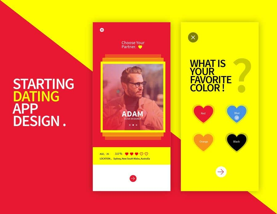 Entry #32 by Dzynee for Smart dating app design | Freelancer