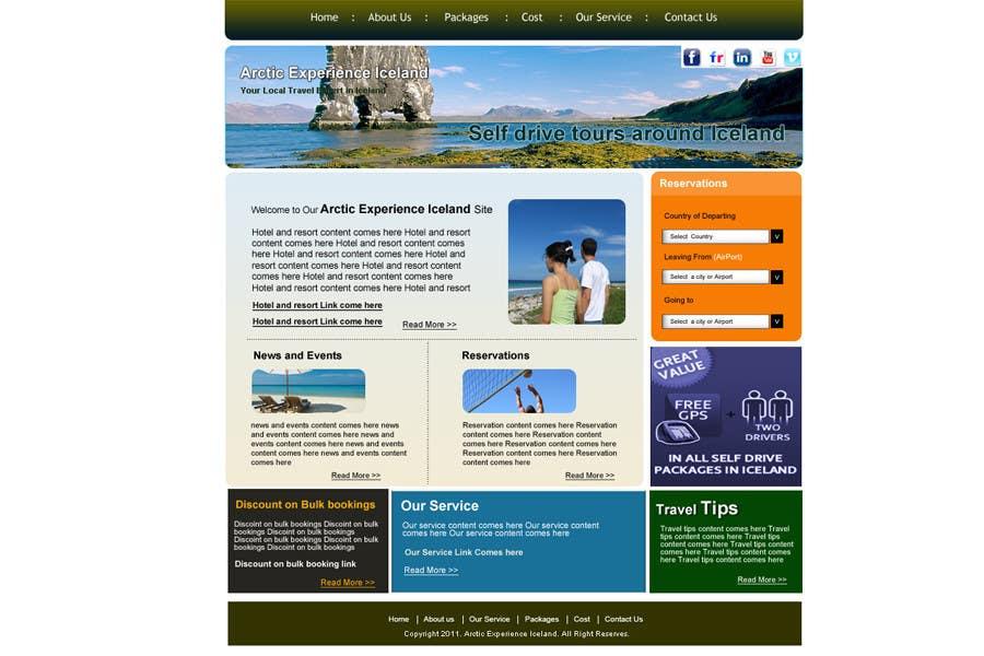 Konkurrenceindlæg #14 for Website Design for Arctic Experience Iceland