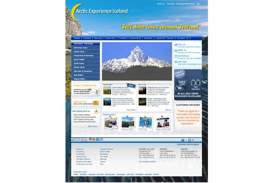 Contest Entry #                                        11                                      for                                         Website Design for Arctic Experience Iceland