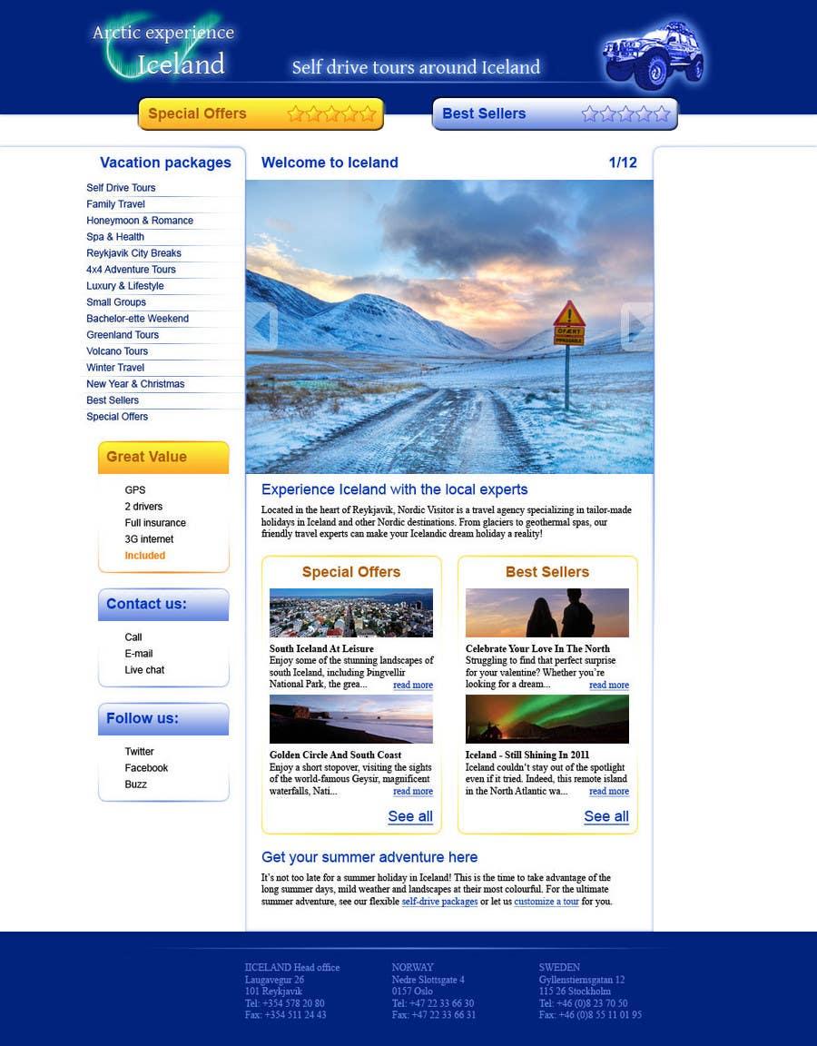 Konkurrenceindlæg #3 for Website Design for Arctic Experience Iceland