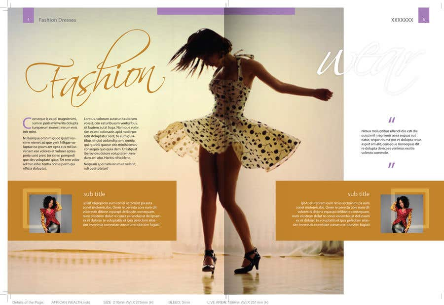 Entry 5 By Rajaitoya For I Need A Graphic Designer To Design A Fashion Magazine Including The Cover Freelancer