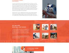 #17 para Anvil Roofing and Siding Landing Page Mockup de ByteZappers