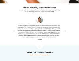 nº 10 pour Design Mockup: Sales Page For Online Course par Anurag87