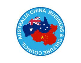 "Basit30 tarafından Logo design for "" Australia China Business & Culture Council"" colour base is navy blue and red, please reference both national flags için no 5"