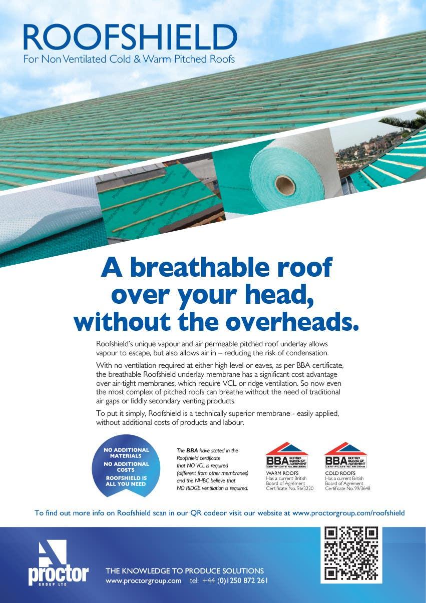 Inscrição nº 116 do Concurso para Roofshield Advertisement Design for A. Proctor Group Ltd