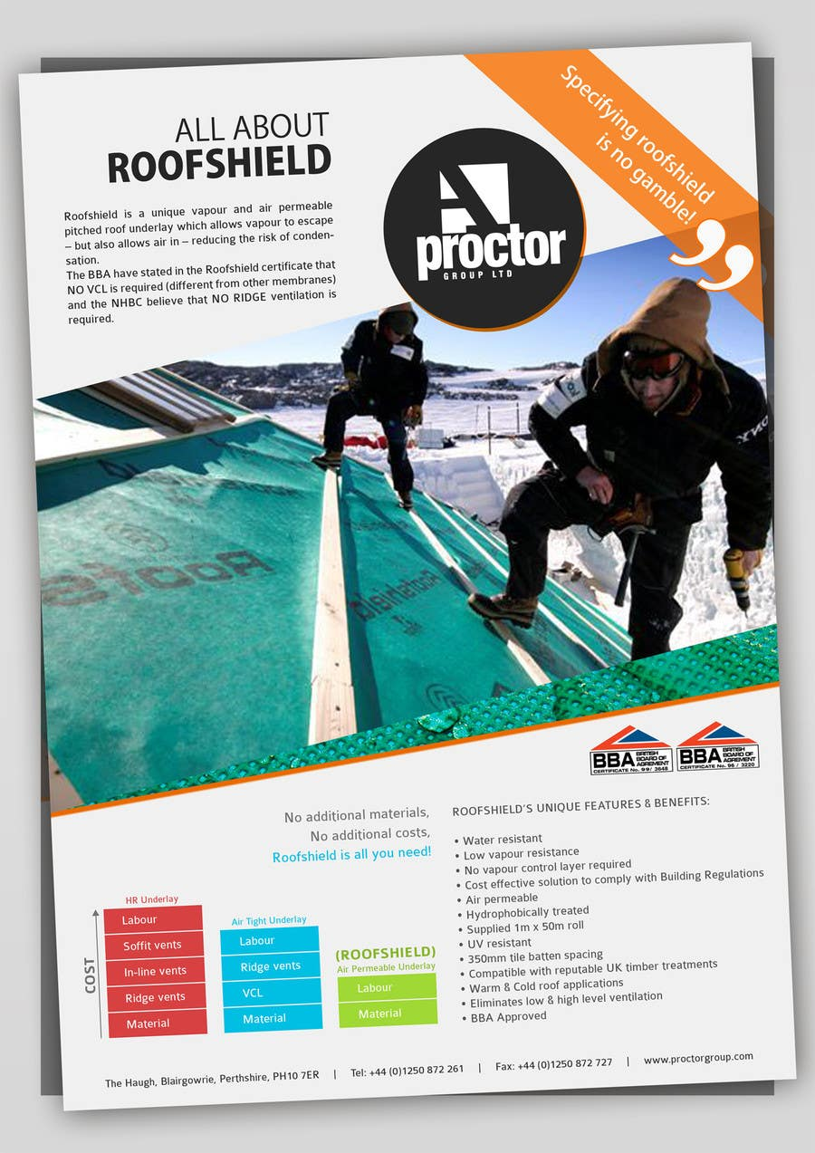 Inscrição nº 124 do Concurso para Roofshield Advertisement Design for A. Proctor Group Ltd
