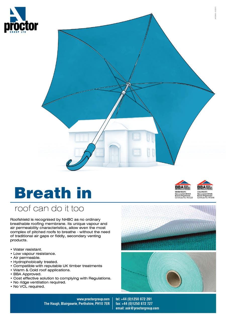 Inscrição nº 131 do Concurso para Roofshield Advertisement Design for A. Proctor Group Ltd