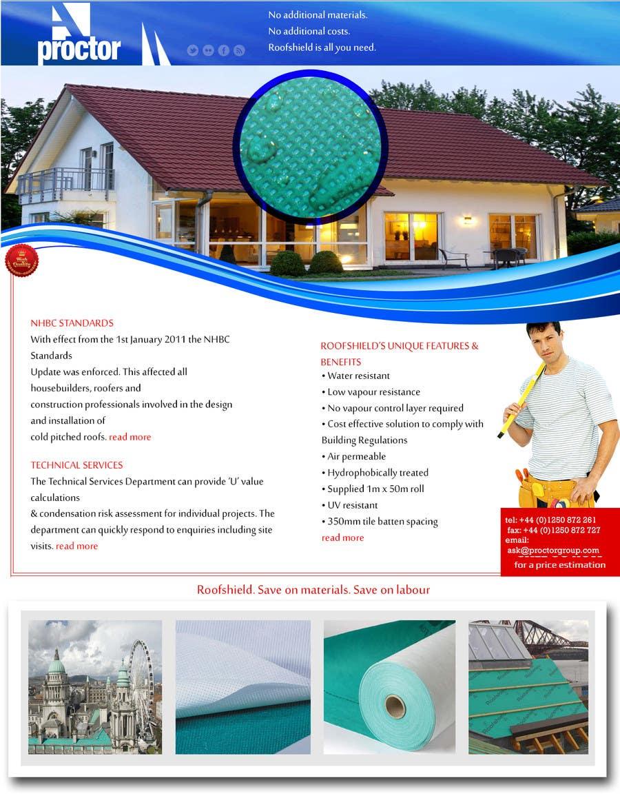 Proposition n°24 du concours Roofshield Advertisement Design for A. Proctor Group Ltd