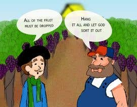 sonalfriends86 tarafından Vineyard manager and winemaker cartoon için no 5