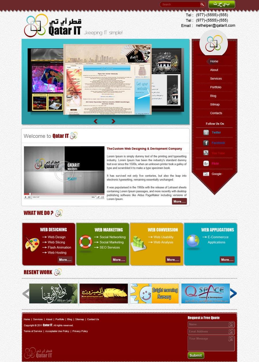 Bài tham dự cuộc thi #54 cho Website Design for Qatar IT