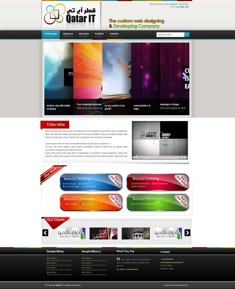Bài tham dự cuộc thi #                                        87                                      cho                                         Website Design for Qatar IT