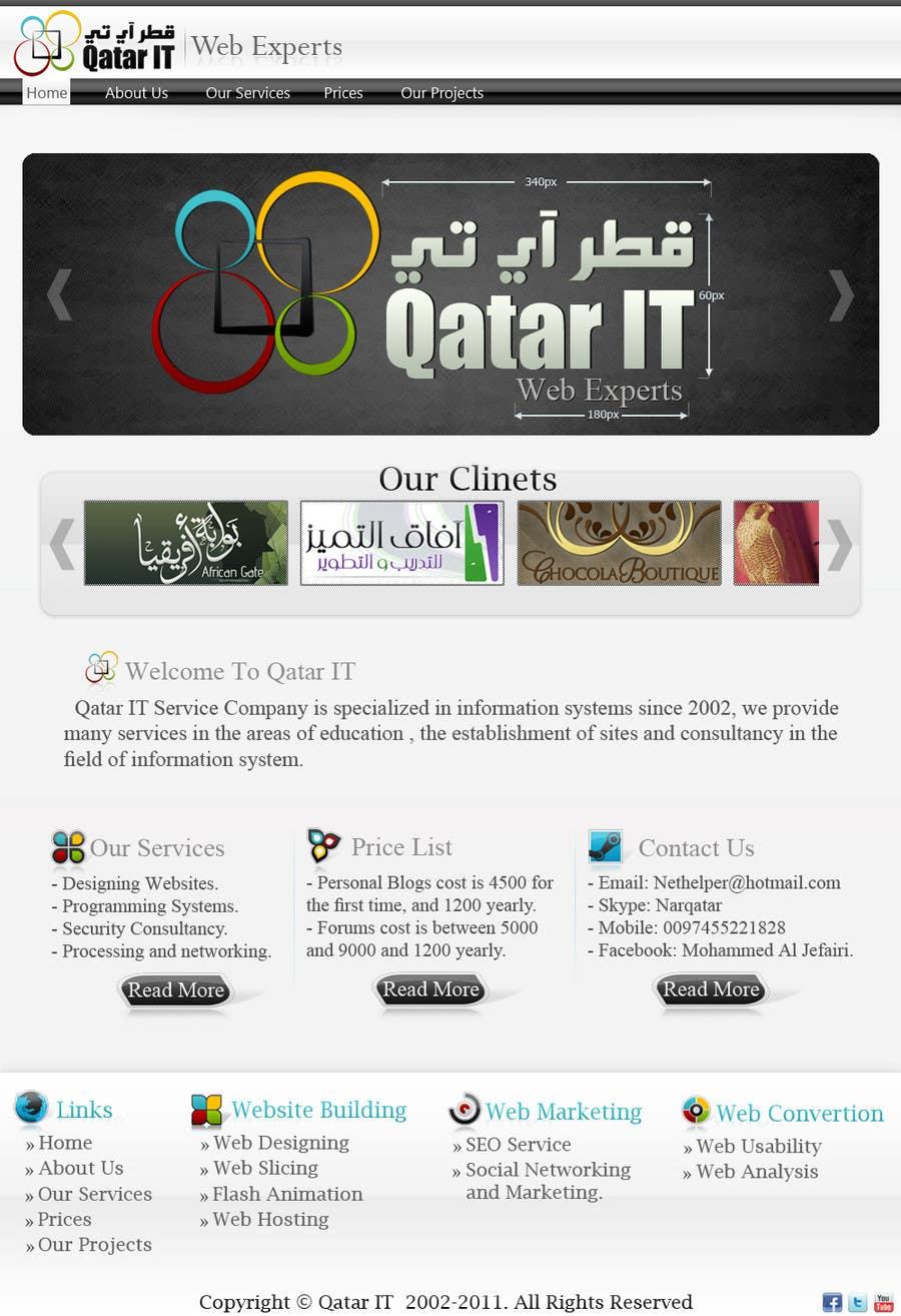 Bài tham dự cuộc thi #                                        91                                      cho                                         Website Design for Qatar IT