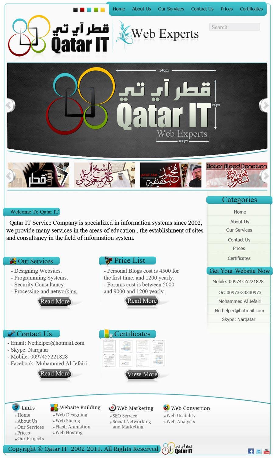 Inscrição nº                                         95                                      do Concurso para                                         Website Design for Qatar IT