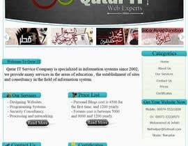 #95 para Website Design for Qatar IT de MoOoNii