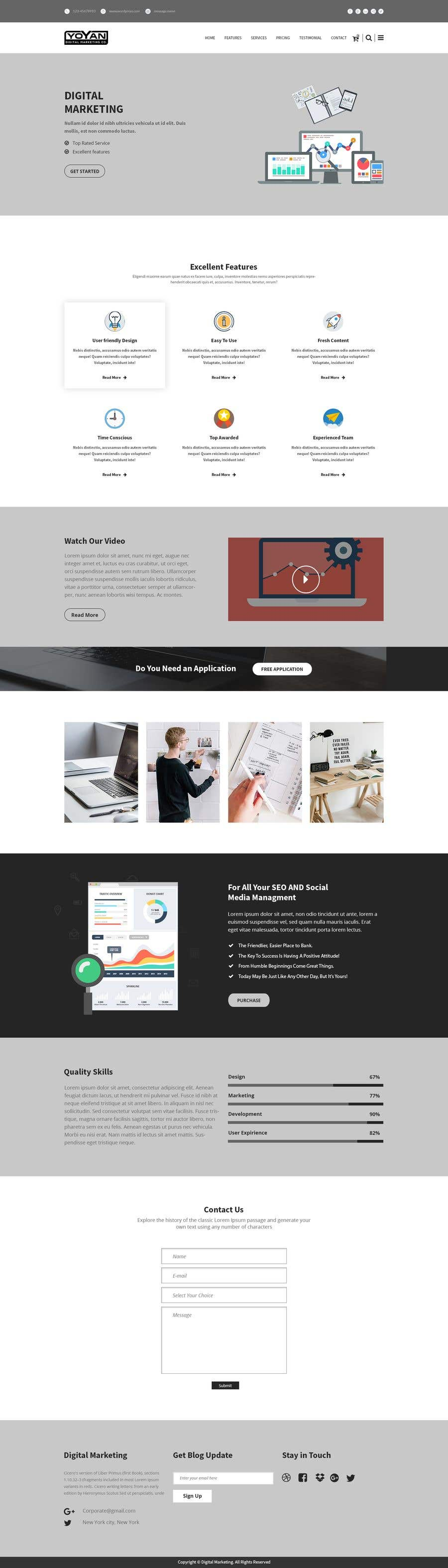 Entry #11 by extechart for Landing Page Template for Yoyan - Digital ...
