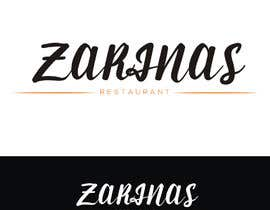 ashiksordar tarafından Logo for Name board - Name of the restaurant is Zarinas  I would prefer a black background , however not specific on it , suggestions are welcome. için no 61