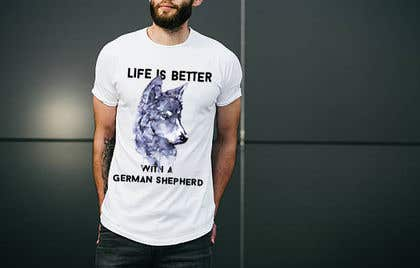 Image of                             Design for a German Shepherd t-s...