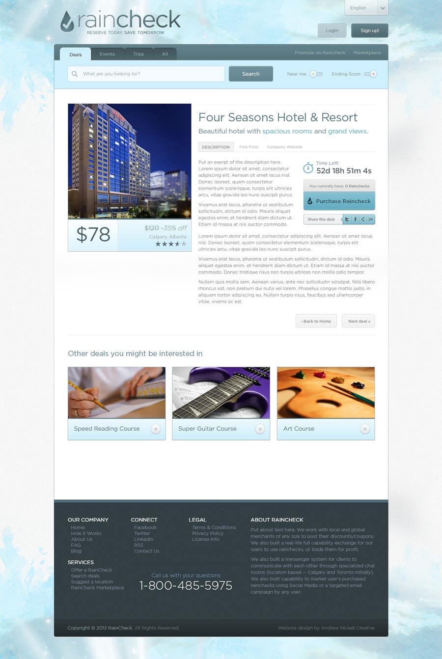 Konkurrenceindlæg #29 for Website Design for Raincheck