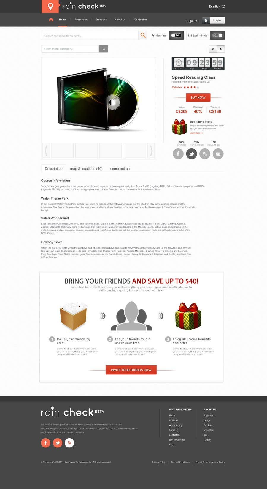 Konkurrenceindlæg #36 for Website Design for Raincheck