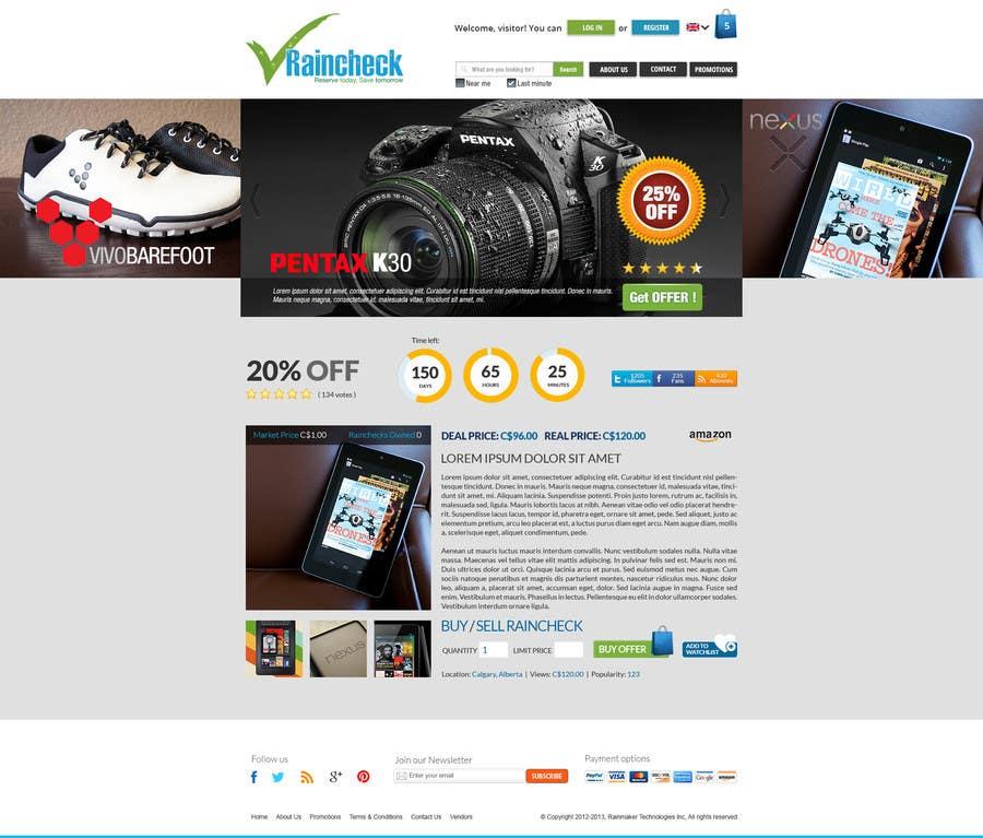 Penyertaan Peraduan #                                        68                                      untuk                                         Website Design for Raincheck