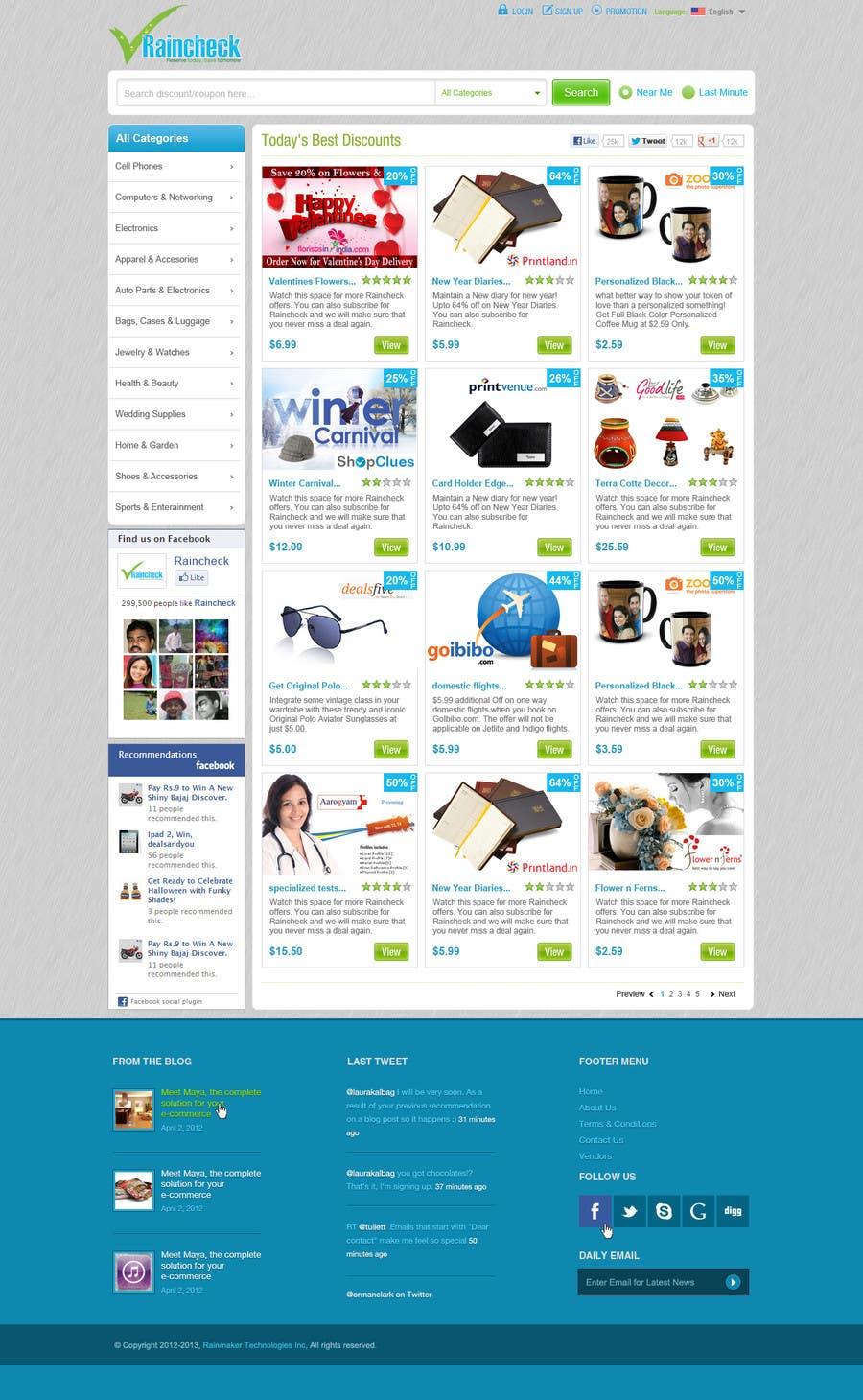 Penyertaan Peraduan #                                        38                                      untuk                                         Website Design for Raincheck
