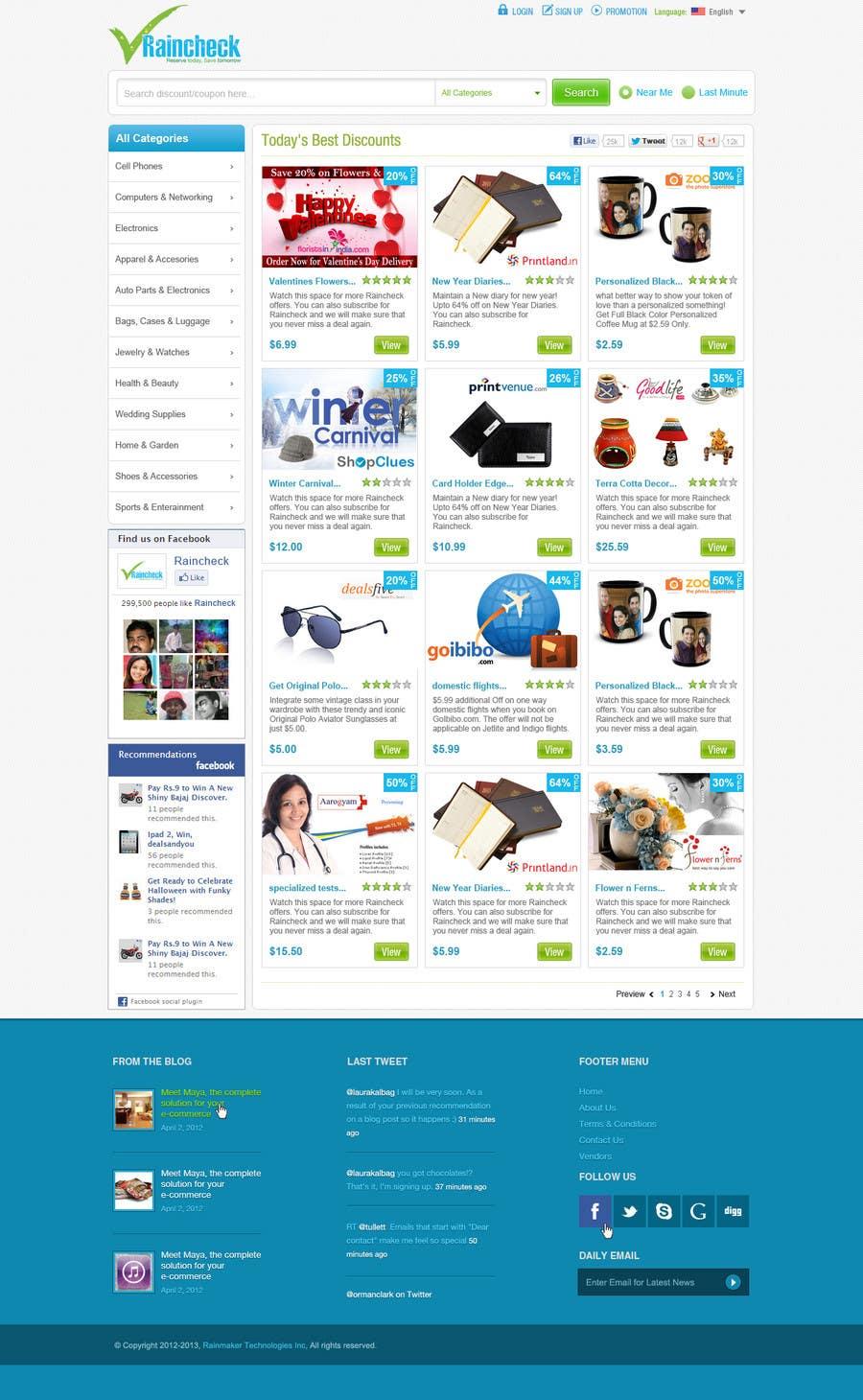 Penyertaan Peraduan #                                        42                                      untuk                                         Website Design for Raincheck