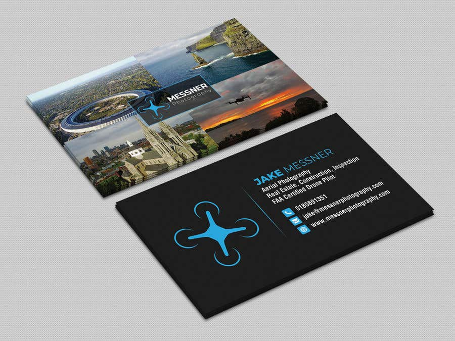 Entry #264 by iqbalsujan500 for Aerial Photography Business Card ...