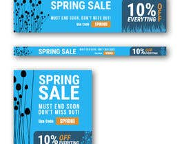 #11 para Design 3 x Banners - For Spring Sale de johnlopevsite