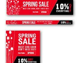 #18 para Design 3 x Banners - For Spring Sale de johnlopevsite